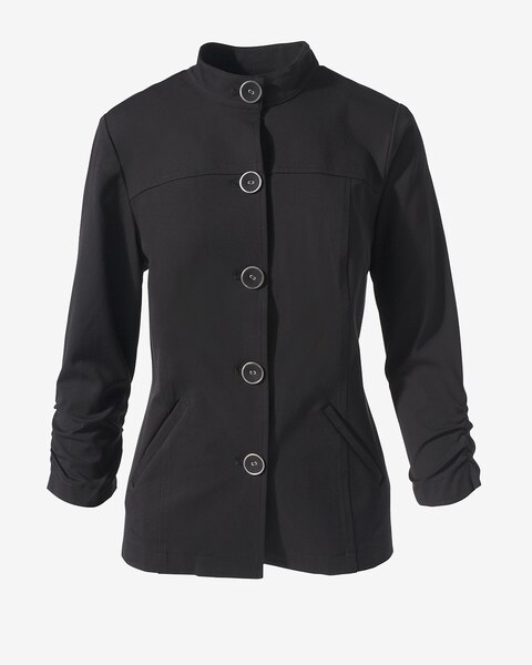 883b359ae 4-Way Stretch Ruched Jacket - Women's Jackets & Vests - Women's ...