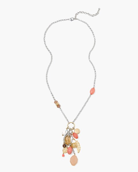 Dreamer beaded cluster pendant necklace chicos off the rack dreamer beaded cluster pendant necklace aloadofball Images