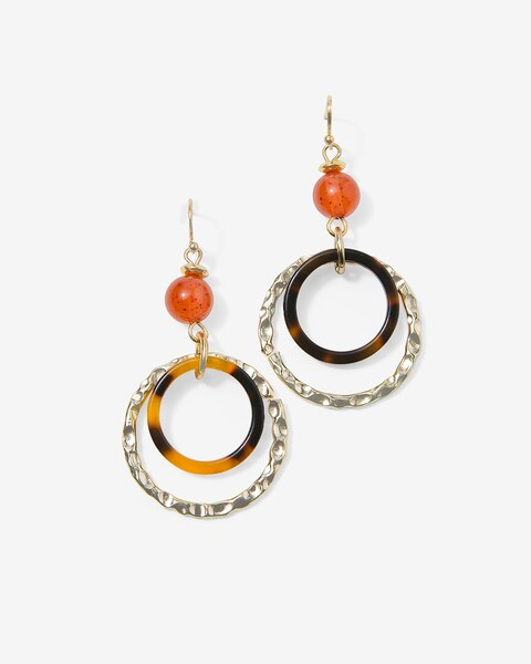 Faux Tortoiseshell Hoop Earrings Chico S Off The Rack Chico S Outlet