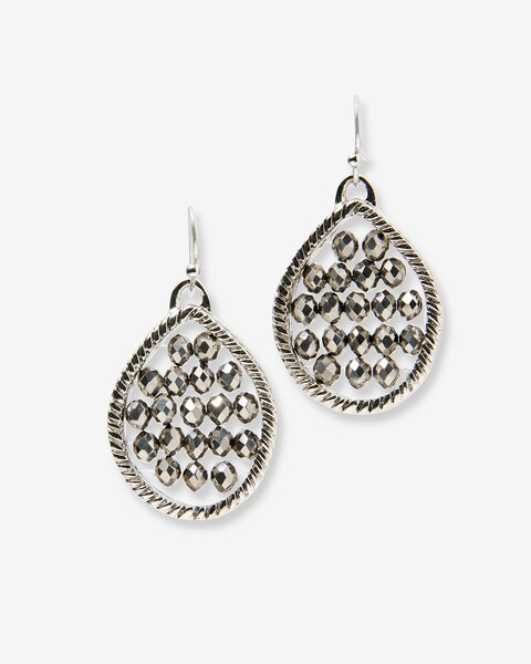 Vintage Charm Beaded Teardrop Earrings