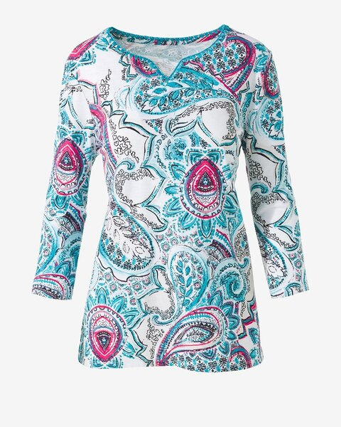 46a96ee6b8 Mystic Paisley Stitch Tunic - Chico's Off The Rack - Chico's Outlet