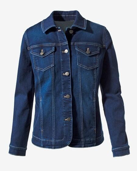 b606524ef Perfect Stretch Indigo Denim Jacket